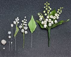 Lily of the valley Gum Paste