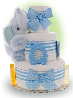 Our Lil' Blue Elephant is a sweet option to welcome the new baby boy. Only $67.00