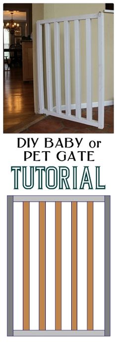 DIY Baby and Dog Gate: Easy and Inexpensive Project