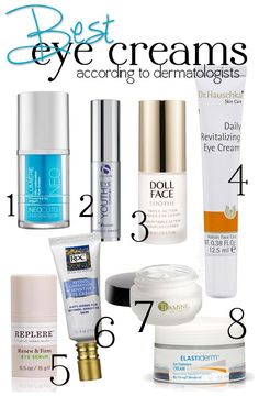 The Best Eye Creams!  Dermatologists spill their favorite ingredients and products!