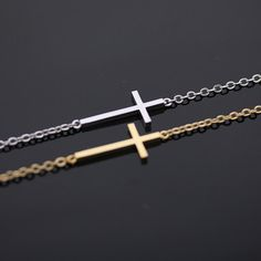 sideways cross bracelet  http://www.zibbet.com/bythecoco/artwork?artworkId=897832