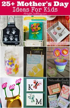 Great list of Mother's Day Crafts For Kids!