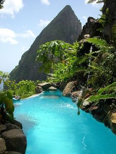 St. Lucia is calling my name! :-)  Look at that WATER!