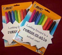 reMARK(ER)able Teacher (easy teacher gift)