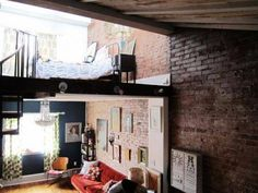 Loft + exposed brick