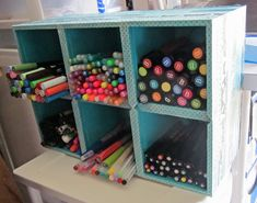 create awesome market storage out of dollar store kleenex boxes - great idea!!