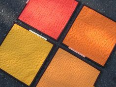 a zillion designs of free-style machine quilting