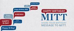 Send a Birthday message to Mitt Romney!