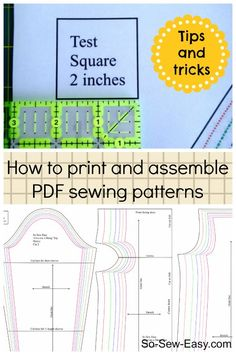 Tips on how to print and assemble PDF sewing patterns. Good info here.