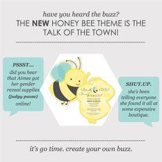 Yellow Baby Shower Themes: Honey Bee Gender Reveal Party Inspiration #BabyShowerIdeas #BigDot #HappyDot