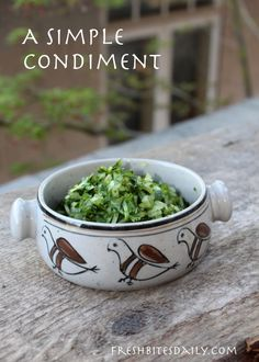 Keep this simple, healthy onion and cilantro condiment in stock