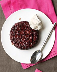 black forest upside-down cakes