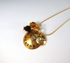Mizzou necklace with TriDelt charm but you can put KD