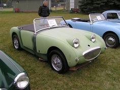 <3 Lime-Green Austin Healey Sprite Bugeye