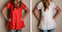 I already have this Lace Tunic in green--so pretty for fall!