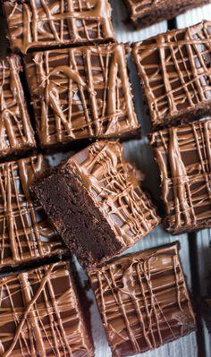 Milk Chocolate Peanut Butter Truffle Brownies Recipe