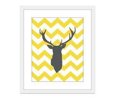#jordanschroeder  Deer Antlers Chevron Nursery Wall Art Print  Modern by AldariArt, $18.00