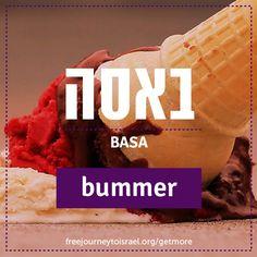 Hebrew word bummer/basa.