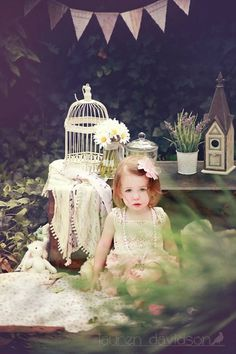 1 year old photo ideas. Toddler photo ideas. 9 month old photo ideas. 2 year old photo ideas. Ideas for girl pictures. Vintage style tea party pictures. Summer photo ideas. Lauren Davidson photography.