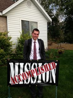 LDS Missionary Welcome home sign made with silhouette cameo and vinyl