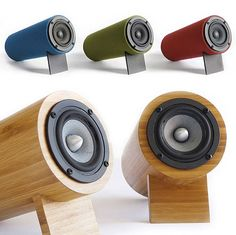 Recyclable bamboo speakers