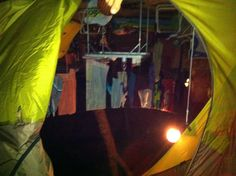 Inside the tent...