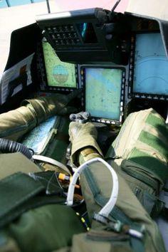 Saab JAS 39 Gripen Cockpit Daylight Display.