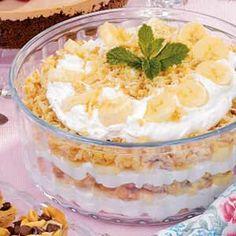 Banana Macaroon Trifle...I like that it's not chocolate