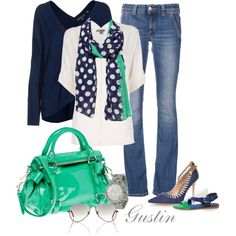 navy and teal, created by gustinz.polyvore.com