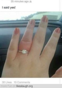 But your finger says no...