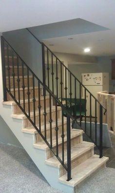 Custom made wrought iron railings
