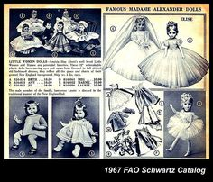 1967 FAO Schwartz Christmas catalog, dolls, Madame Alexander etc by mcudeque, via Flickr