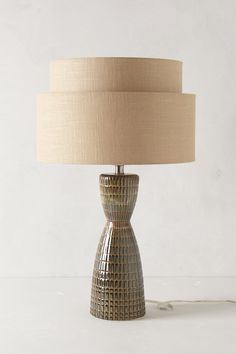 Two-Tiered Lamp Ensemble - Anthropologie #Anthropologie #PinToWin