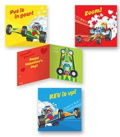 valentine box race car