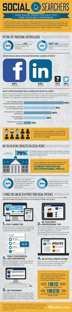 help, social media marketing, job search, career, internship, infograph, social networks, socialmedia, medium