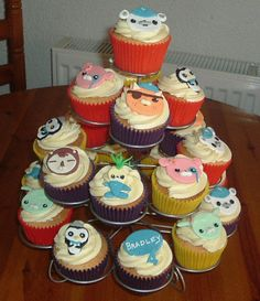 Octonauts Cake and Cupcakes