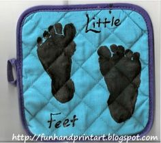 Mother's Day gifts using baby feet