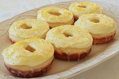 Lemon Cupcake Baked Donuts