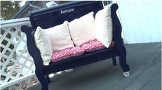 Turn an Old Headboard Into a Bench (VIDEO) #DIY