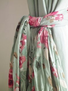 scarf into a curtain tie back