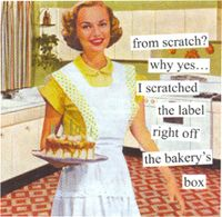 """Anne Taintor """"From Scratch"""" Paper Beverage Napkins 6406"""