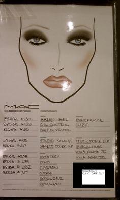 mac Love this face chart