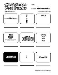 FREE Christmas Word Puzzles (Frame Games)