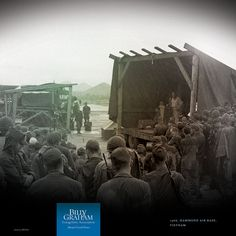 BRINGING HOPE TO THE TROOPS  |  1966, Hammond Air Base, Vietnam  |  Billy Graham carried a message of lasting peace to U.S. soldiers serving in Vietnam.
