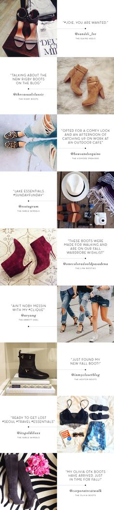 Social Chatter: Your Favorite Joie Shoes on Instagram >>click to shop the styles.