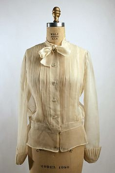 Blouse  Date: ca. 1938 Culture: French (probably)