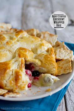 Berry Stuffed Crescent Wrapped Brie