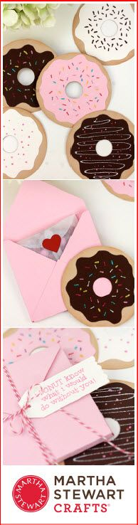 Give your favorite sweet-toothed Valentine a treat they can keep! Blogger Damask Love made these adorable Valentines with Martha Stewart Crafts Circle Cutter and Glitter. #marthastewartcrafts #12monthsofmartha