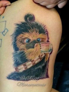 Baby chewbacca tattooBaby Chewbacca Art