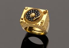 Mathmatiks Heritage Turntable Ring  18k Solid Gold by mathmatiks, $25000.00